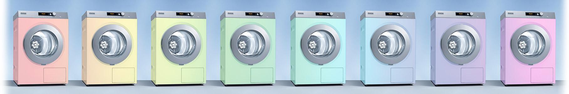 Farbige Waschmaschinen