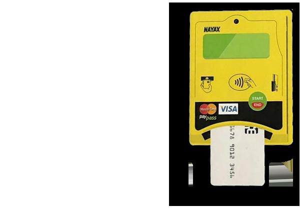 Kreditkarten-pay mit Mietwasch